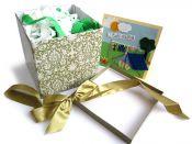 Svatební přání a dárková krabička s krepovým papírem