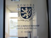 Označení dveří Účetní a daňová kancelář Buršíková