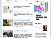 Ukázka grafiky newsletteru - ICF ČR