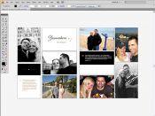 Rozložení fotek a textu ve svatebním fotoalbu