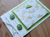 Ručně vyráběné svatební přání zelené