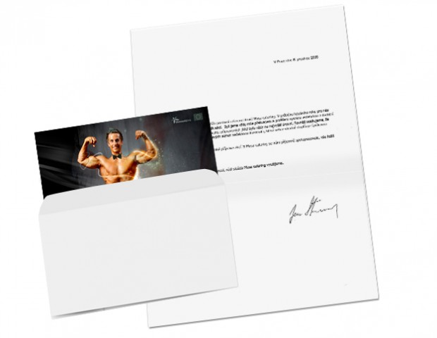 Prezentační karta v obálce