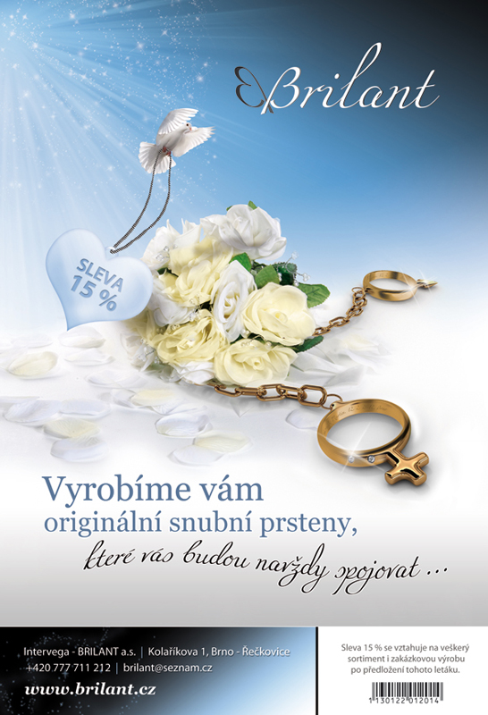 Inzerce - Vyrobíme vám originální snubní prsteny, které vás budou navždy spojovat