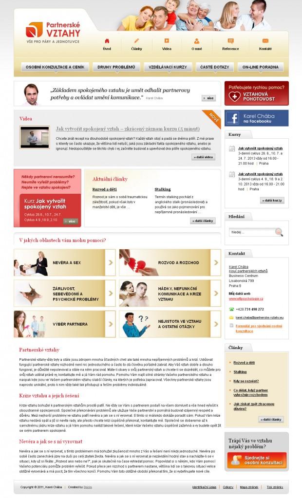 Webové stránky Partnerské vztahy.eu