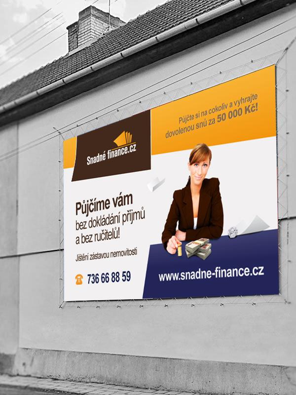 Reklamní plachta Snadné finance