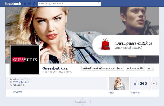 Firemní Facebook Guess Butik