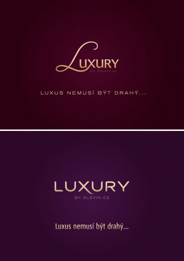 Grafické návrhy loga Luxury by Slevín