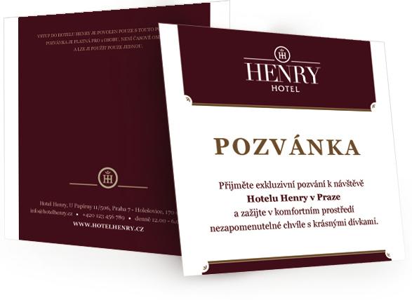 Pozvánka Hotel Henry
