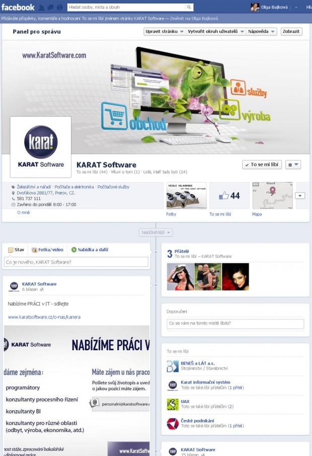 Firemní profil na Facebooku