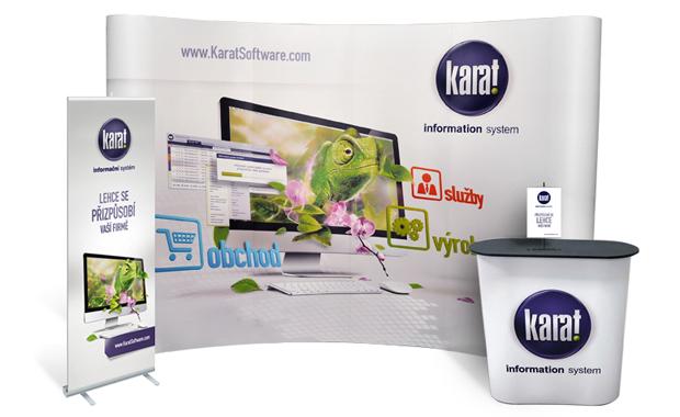 Pop-up, roll-up a stolek KARAT Software