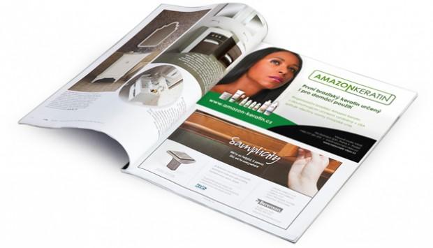 Inzerce Amazon keratin v časopise