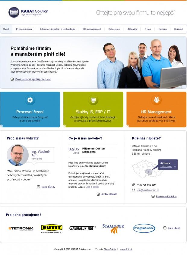 Web KARAT Solution - Úvod
