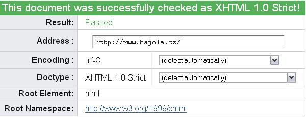 W3C Validátor