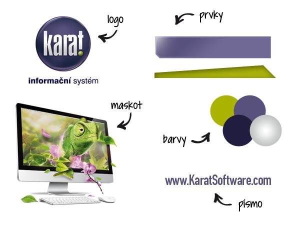 Základní znaky firemní identity IS KARAT