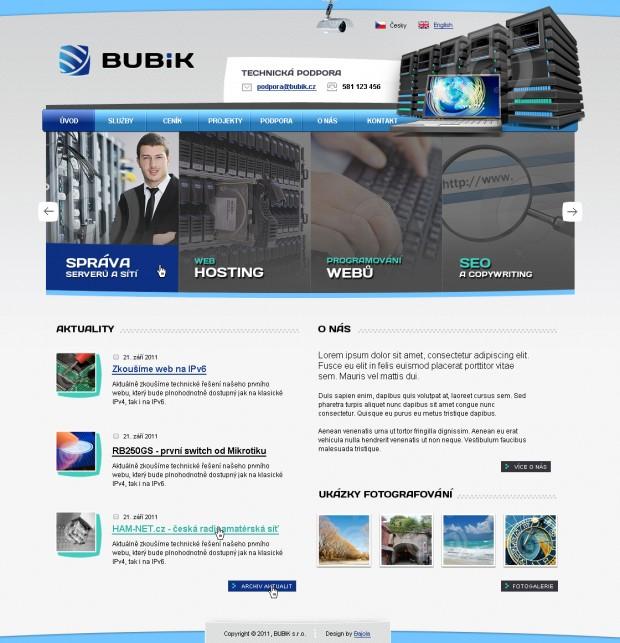 Grafický návrh www stránek Bubik