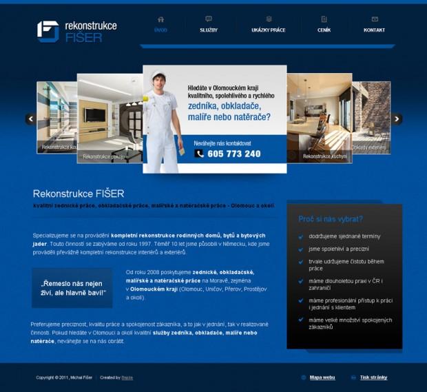 Tvorba webových stránek Rekonstrukce Fišer