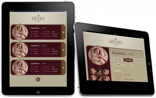 Verze webu Hotel Henry pro tablet