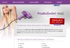Web Prodlužování vlasů ultrazvukem