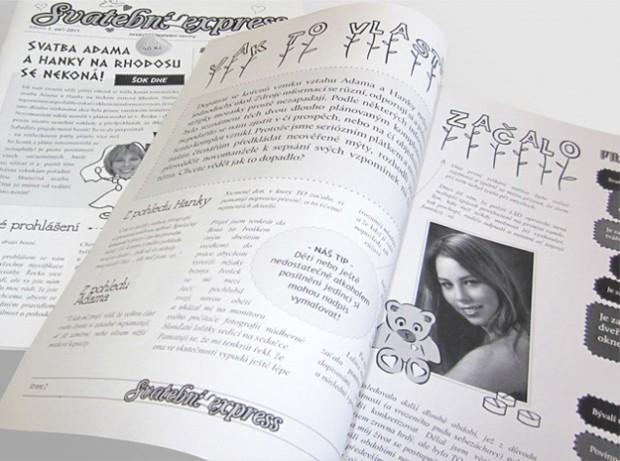 Pěkné svatební noviny