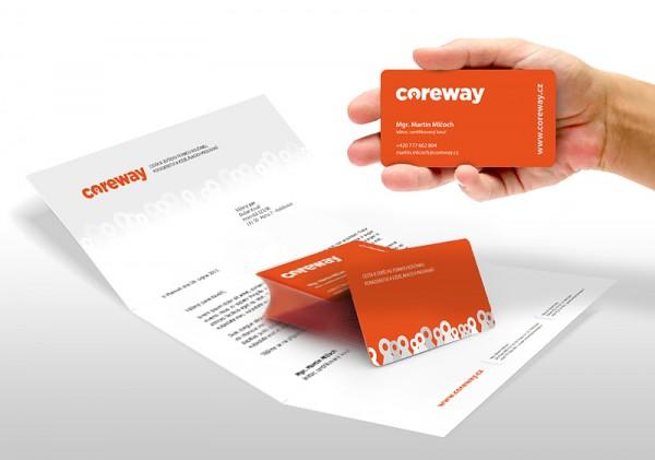 Vizitka a hlavičkový papír Coreway
