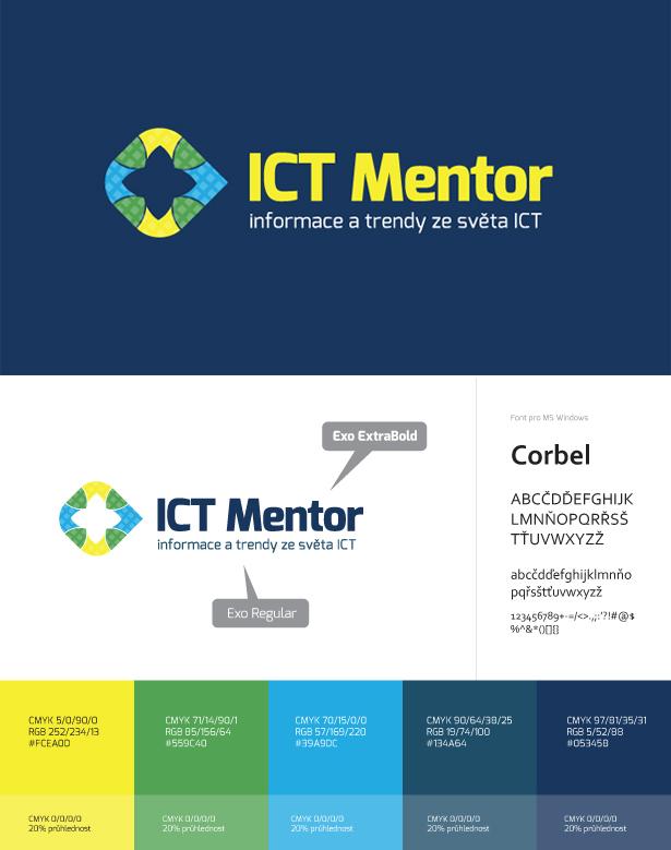 Logo a mini logomanuál ICT Mentor