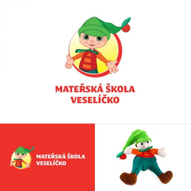 Nerealizované logo Mateřská škola Veselíčko - horizontální a vertikální varianta