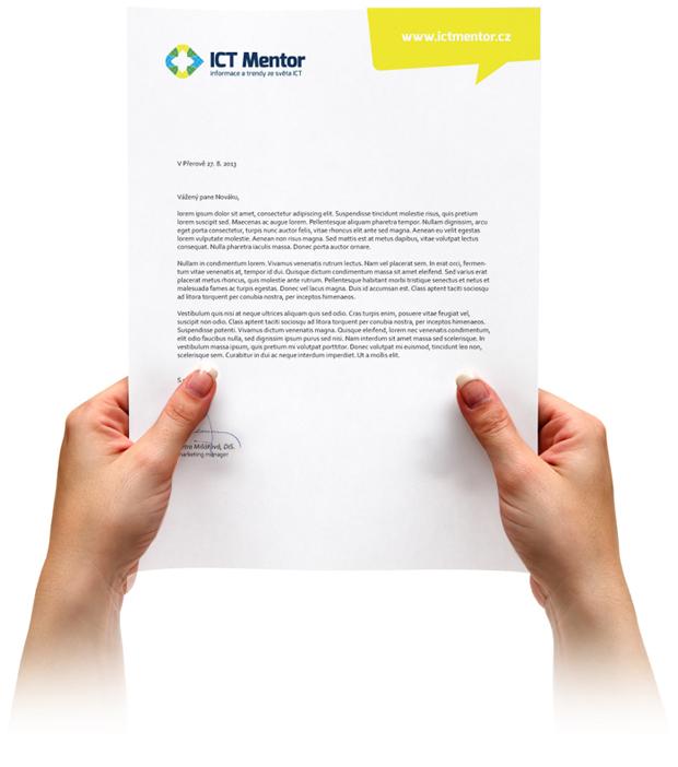 Hlavičkový papír ICT Mentor