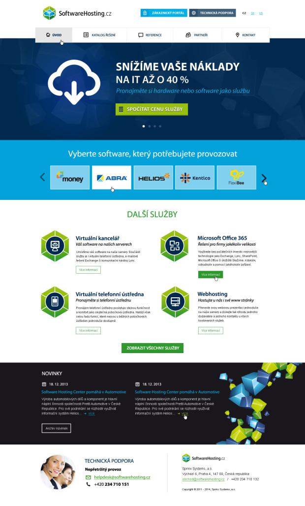 Responzivní design pro webové stránky Softwarehosting - úvod