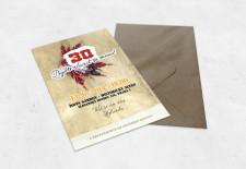 Pozvánka na 30. narozeniny A6 indiánský styl