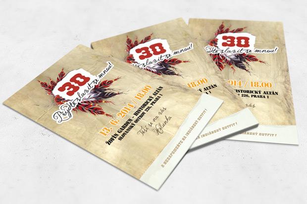 Pozvánka na 30. narozeniny A6