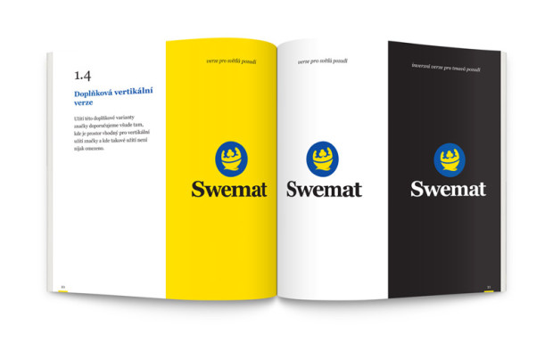 Logomanuál Swemat - vertikální varianta loga
