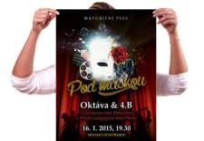 Plakát na maturitní ples