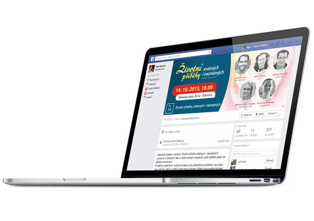 Záhlaví události Facebook pro benefiční akci