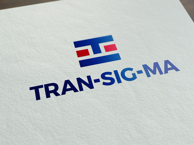 Aplikace loga Transigma na papír