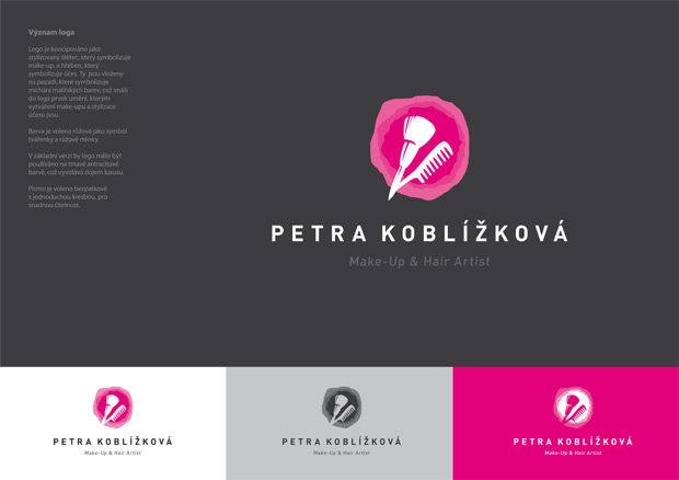 Grafický návrh loga Petra Koblížková make-up and hair artist