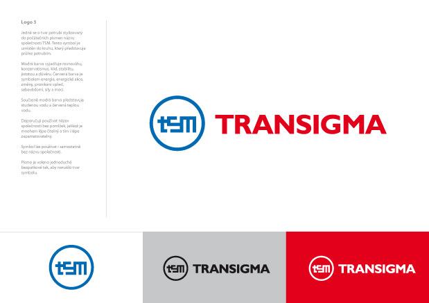Grafický návrh loga Transigma