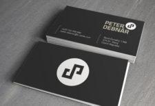 Logo a vizitka Peter Debnár - grafický návrh