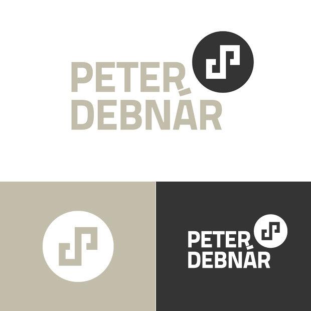 Osobní logo - iniciály Peter Debnár - tvorba loga