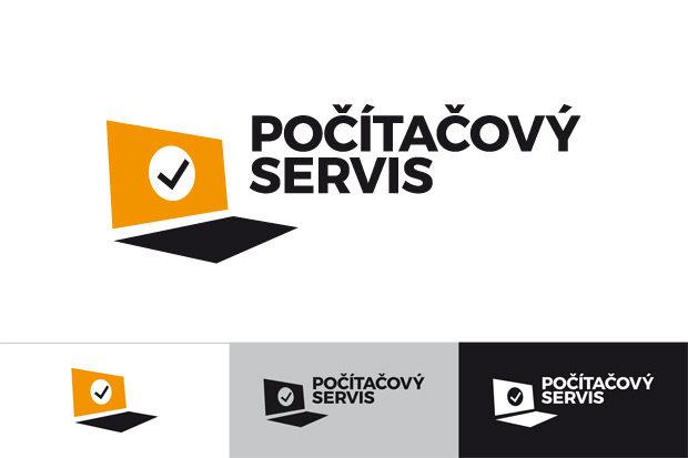 Grafický návrh loga Počítačový servis - redesign
