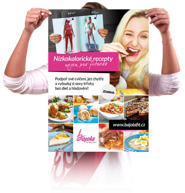 Grafický návrh plakátu pro fitness recepty