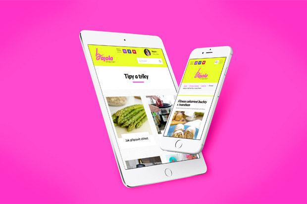 Web s fitness recepty na tabletu a mobilu